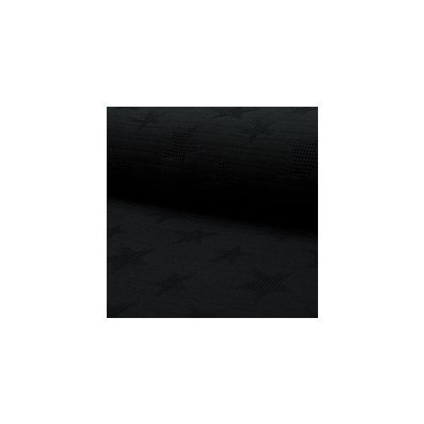 Jacquard Waffelstoff schwarz