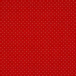 Baumwollstoff Punkte Mini rot/weiß