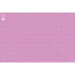 Schneideunterlage 90x60 cm pink