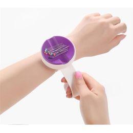 Magentnadelkissen Armband lila