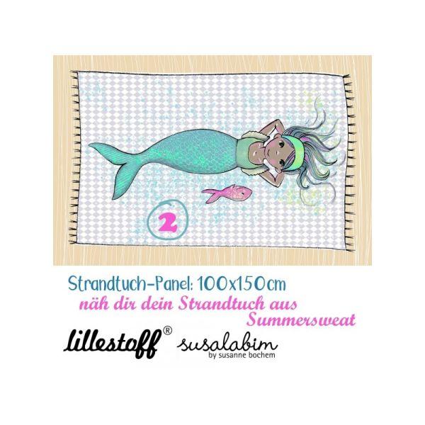 Bio Sommersweat Meerjungfrau 2 Strandtuch