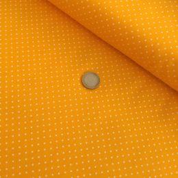Baumwollstoff Punkte Mini gelb/weiß