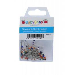Glaskopfnadeln 35 mm silberfarbig bunt 100 Stück
