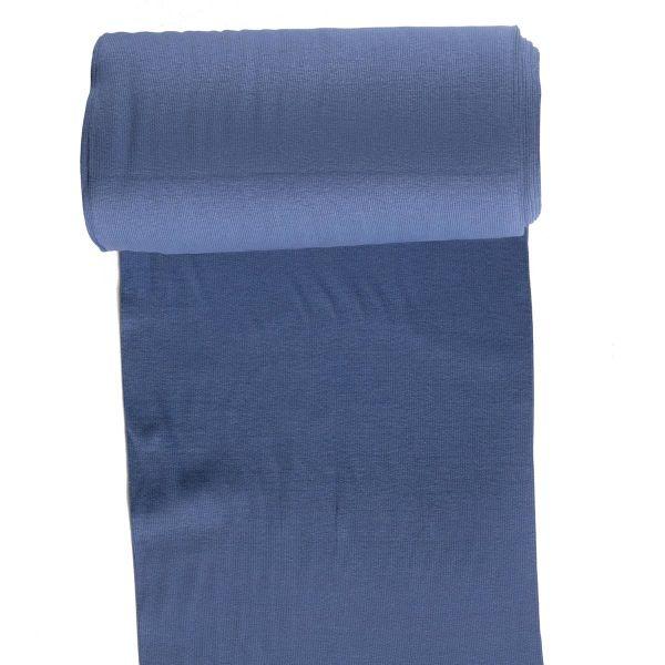 Bündchen Ripp fein indigo blau