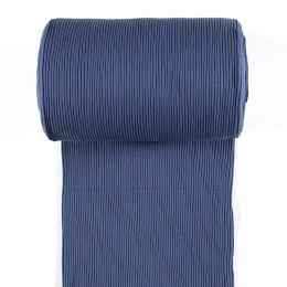 Bündchen Ripp grob indigo blau