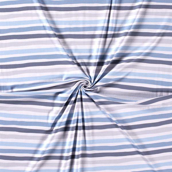 Jersey Streifen blau grau