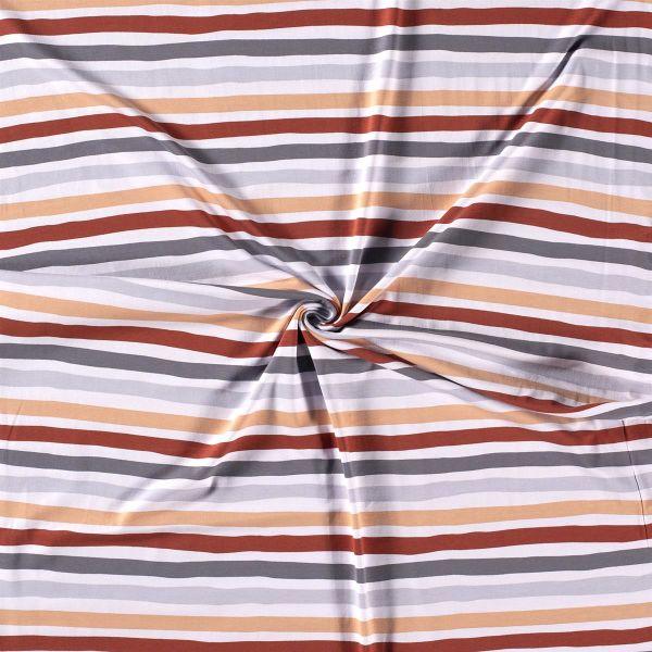 Jersey Streifen braun grau