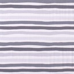 Jersey Streifen hellgrau grau