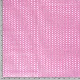 Baumwollstoff Sterne klein pink