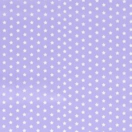 Baumwollstoff Sterne klein helllila