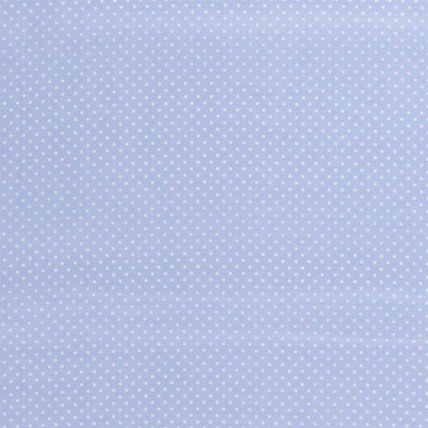 Baumwollstoff Minidots hellblau