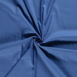 Baumwollstoff Minidots kobalt blau