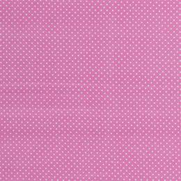 Baumwollstoff Minidots rosa