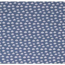 Baumwollstoff Wolken indigo blau