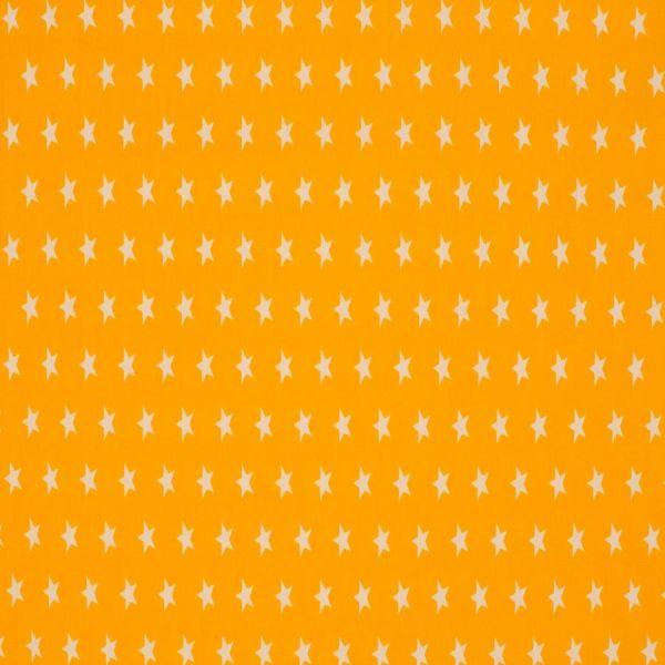 Baumwollstoff Sterne Mini gelb/weiß