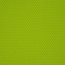 Baumwollstoff Punkte Mini lime/weiß