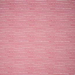 Baumwolldruck Stripes altrosa