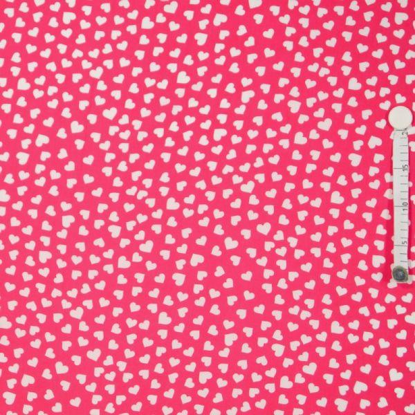 Baumwolldruck Herze pink