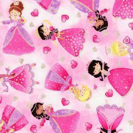 Designer Baumwollstoff Glitter Princess