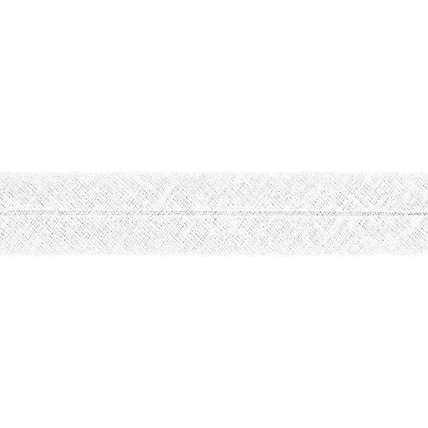 Hochwertiges Schrägband 40/20 mm gefalzt weiß