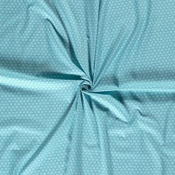 Baumwolldruck Formen aqua