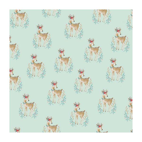 Baumwolle Woodland Deer mint