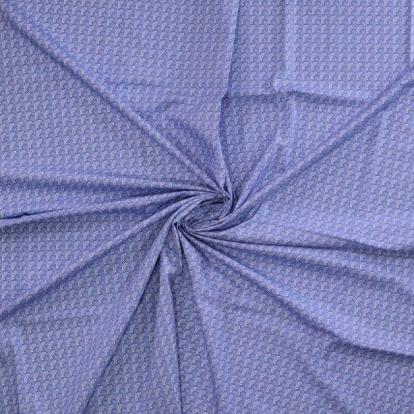 Baumwolldruck Muster blau