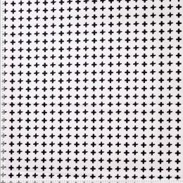Baumwolldruck weiß Kreuze schwarz