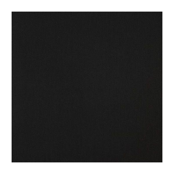 Baumwollstoff uni schwarz