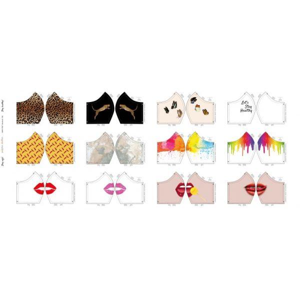 Baumwolldruck für Gesichtsmasken Design II