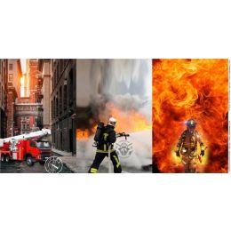 Jersey Digitaldruck Panel Firefighter 0.75X155cm