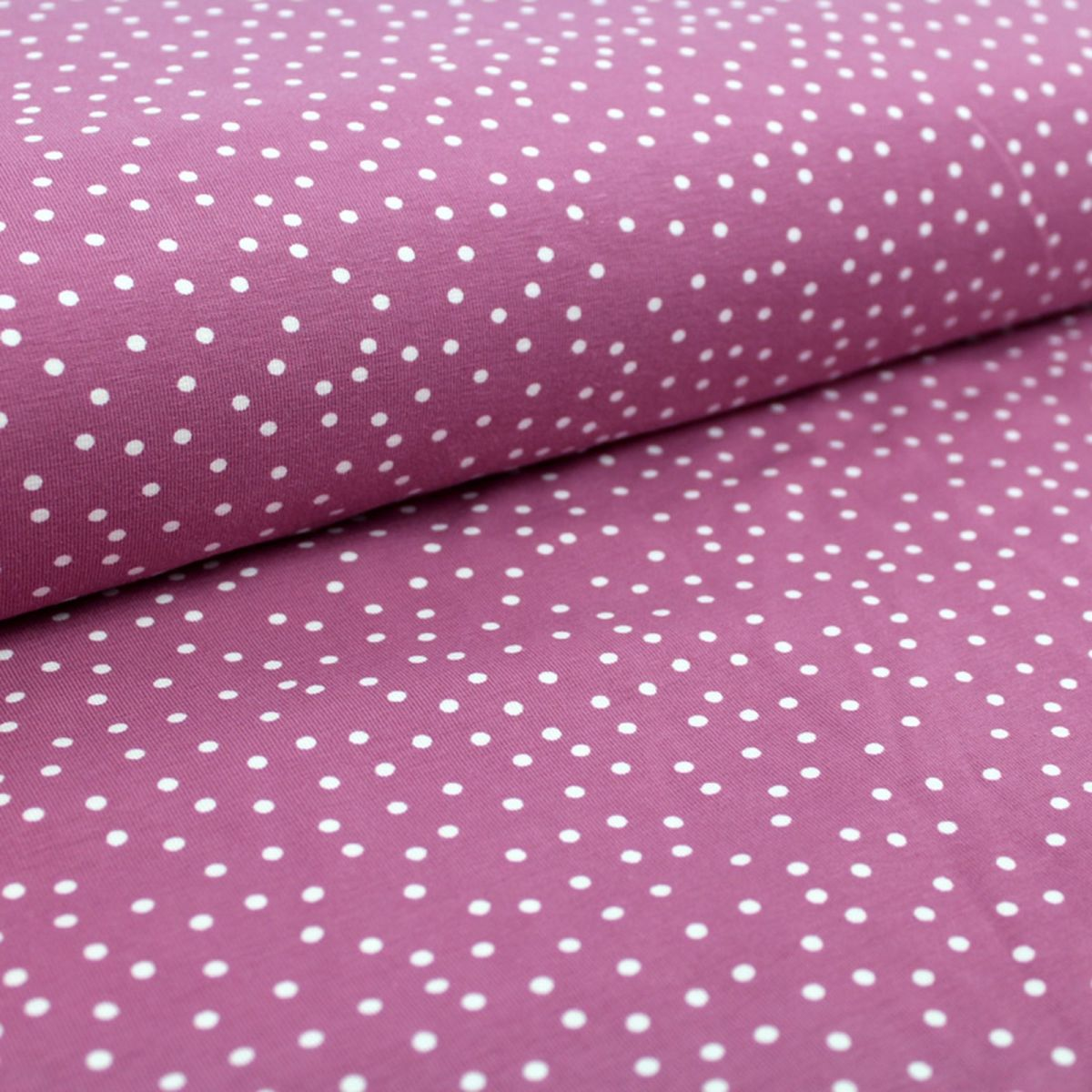 Bio-Jersey Dotties - vintage rose