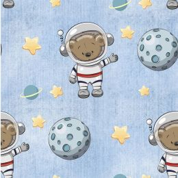 French Terry Spacebear light blue