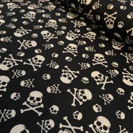 Baumwolldruck Piraten schwarz