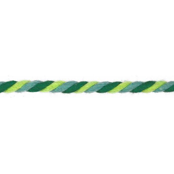 Baumwollkordel gedreht 6mm grün/lime/türkis