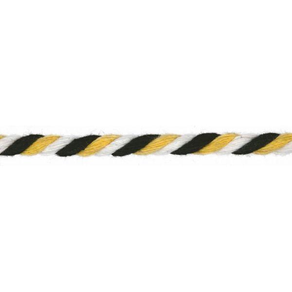 Baumwollkordel gedreht 6mm schwarz/gelb/weiß