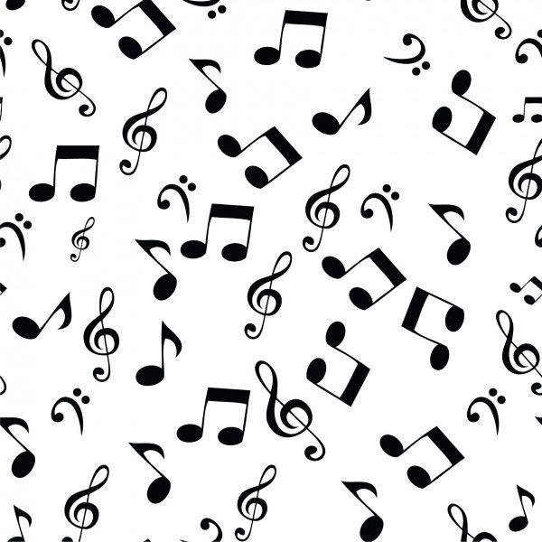 Baumwollstoff Musiknoten