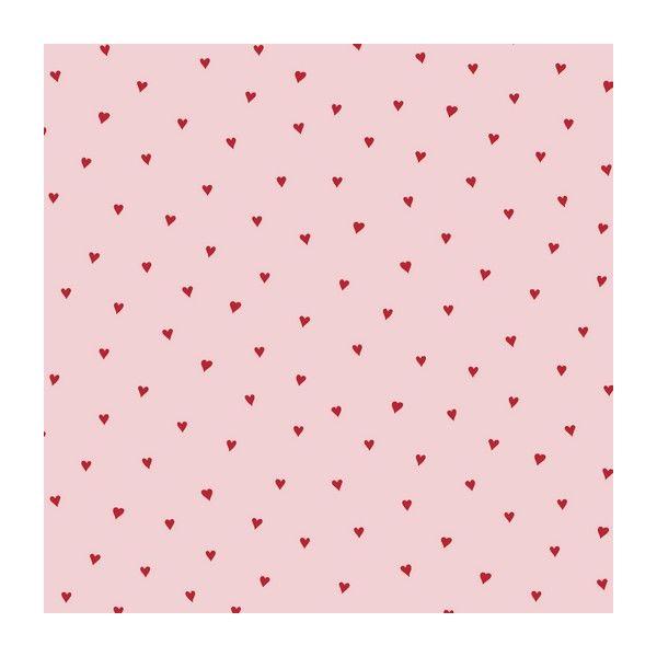 Baumwolle Heart rose/red