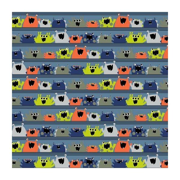 Baumwolle Roaring Monsters blue