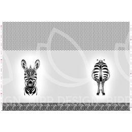 Panel Zebra light grey