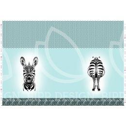 Panel Zebra light aqua
