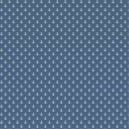 Baumwolle Anker klein blue