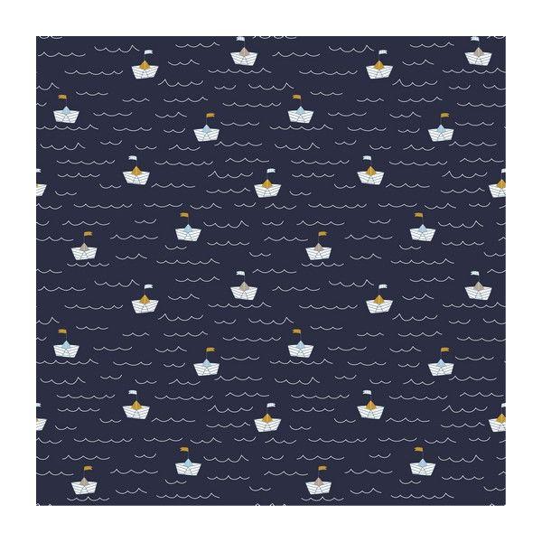 Baumwolle Schiffe auf See dunkelblau