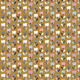 Baumwolle Flower Fields ochre