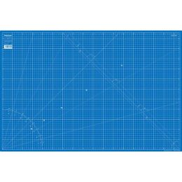 Schneideunterlage 90x60 cm blau