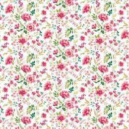 Baumwolle Sweet Flowers white