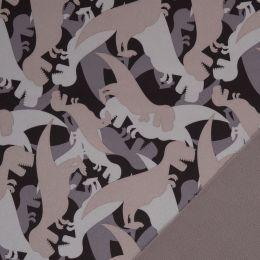 Softshell NANO Sheldon Dinosaurier dunkelbraun/beige