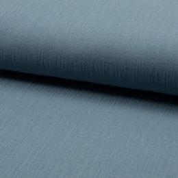 Musselin Uni dusty blue
