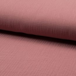 Musselin Uni old pink