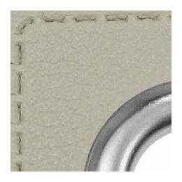 Ösen Patches für Kordeln Lederimitat 8mm hellgrau